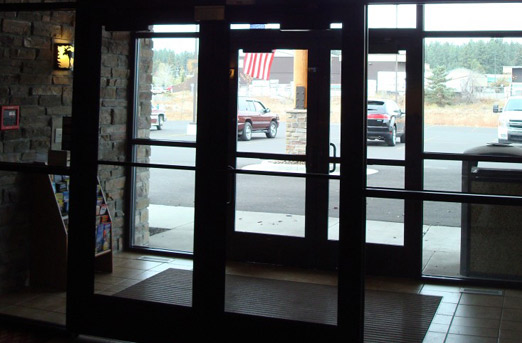 glass storefront doors